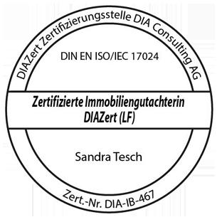 Das DIA-Zertifikat als Immobiliengutachterin für Sandra Tesch