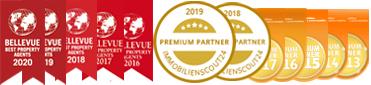 Diverse Auszeichnungen als Immobilienmakler für Hamburg und Aachen