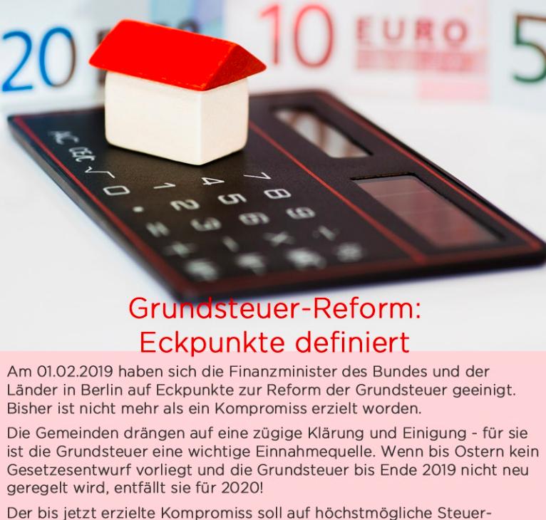 Vorschaubild Artikel Grundsteuerreform 2019 bei News