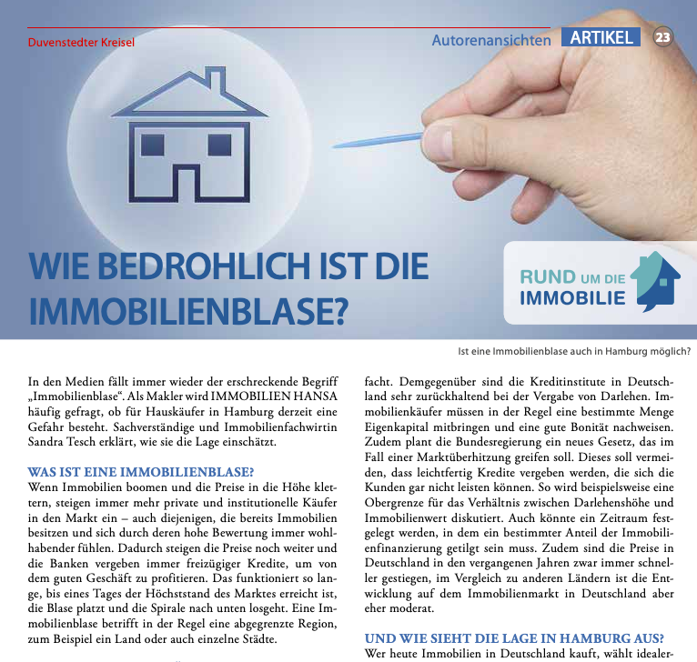 Vorschaubild Artikel Immobilienblase bei News