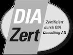 Das DIA Logo zur Zertifizierung als Imobiliengutachter